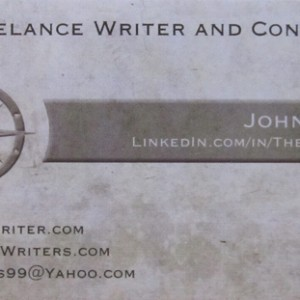 Your freelance writer business cards is a great way to gain new clients. It should have your website and contact info, and also your niches.