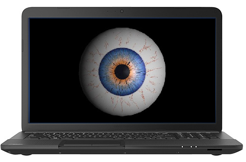 Too much time staring at your computer screen can cause eye strain.