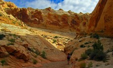 Entrance to Bell Canyon and Little Wild Horse Canyon in Utah's San Rafael Swell. (Photo © John Soares)