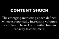 Content shock definition: web content is rising faster than people have the time to consume it.