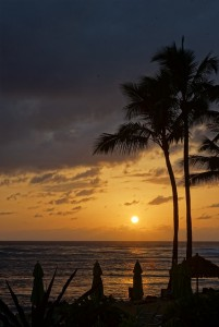 Sunset on Kauai, Hawaii. I lived here for 3 years.