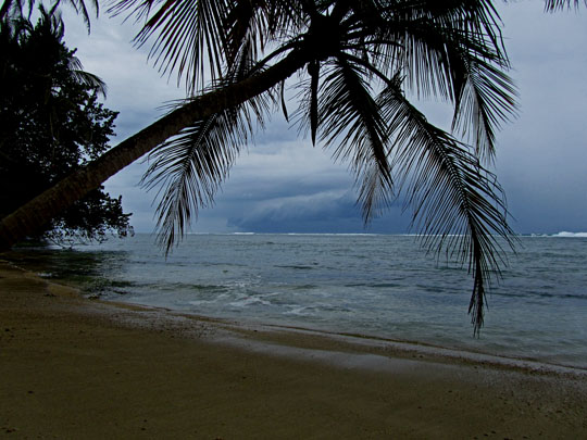 Approaching storm, Cahuita National Park